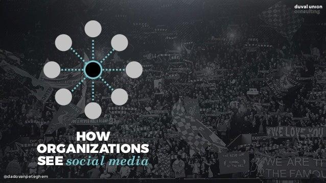 @dadovanpeteghem HOW  ORGANIZATIONS  SEE social media