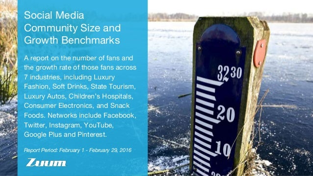 Report Period: February 1 - February 29, 2016 Social Media Community Size and Growth Benchmarks A report on the number of ...