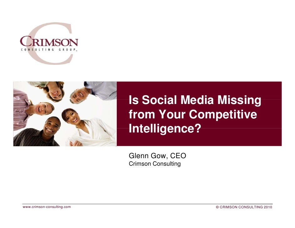 Is Social Media Missing                              from Your Competitive                              Intelligence?     ...