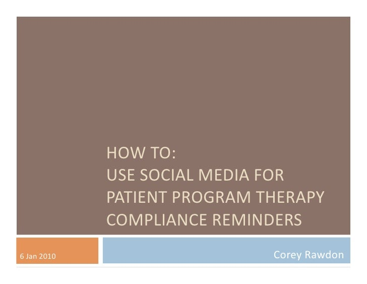 Social media compliance reminders