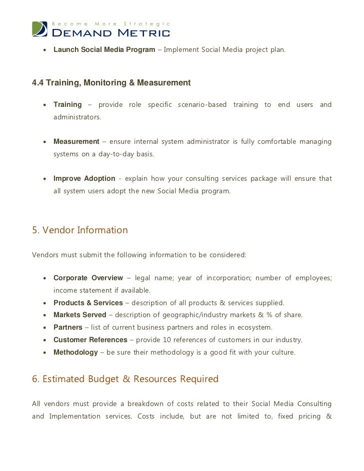 Social Media Consulting Services RFP