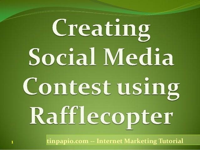 1   tinpapio.com -- Internet Marketing Tutorial