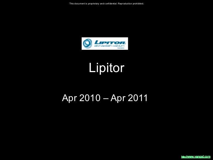 Lipitor Apr 2010 – Apr 2011