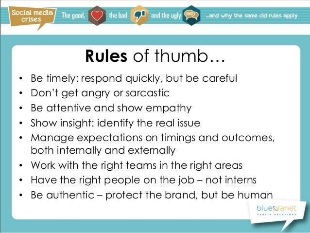 Blue planet pr mediasocial2 social media crises for Office design rules of thumb