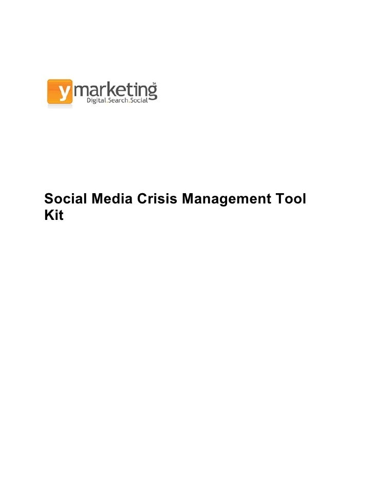 Social Media Crisis Management ToolKit
