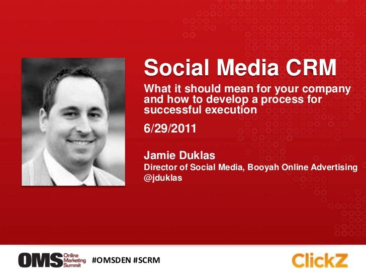 Social Media CRM<br />What it should mean for your company and how to develop a process for successful execution<br />6/29...