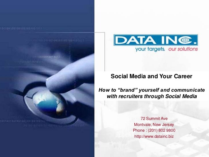 """Twitter      Social Media and Your Career  How to """"brand"""" yourself and communicate    with recruiters through Social Media..."""