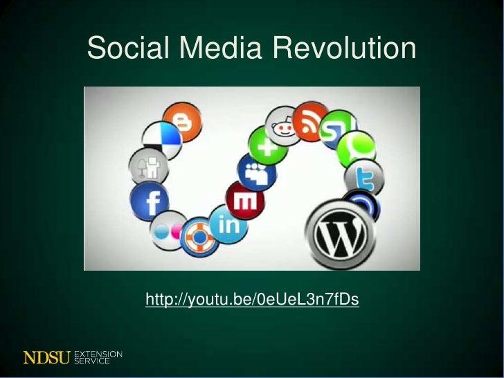 Social Media Revolution    http://youtu.be/0eUeL3n7fDs