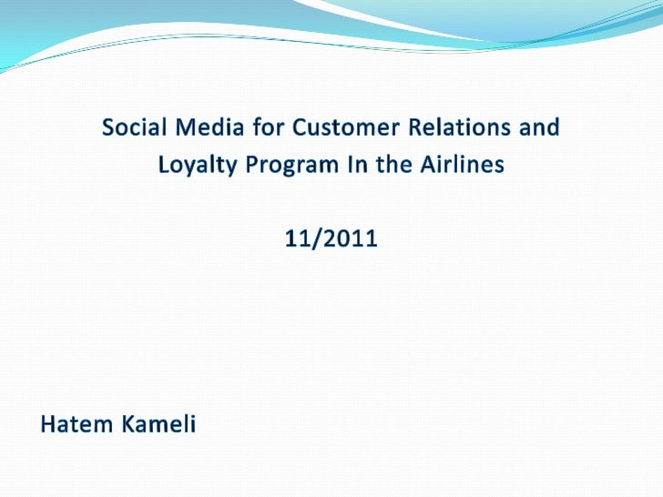 Agenda Social Media Growth Airlines Plans for Social Media Airlines Benefits from Social Media Social Media Customer R...