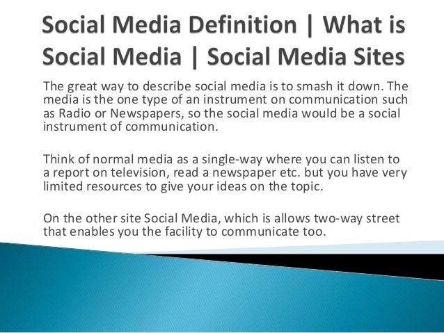 sociale medier definition