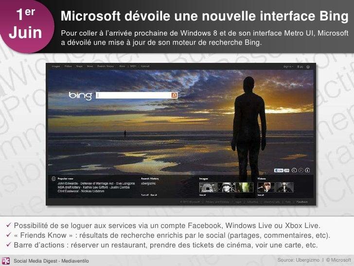 1er                   Microsoft dévoile une nouvelle interface BingJuin                   Pour coller à l'arrivée prochain...