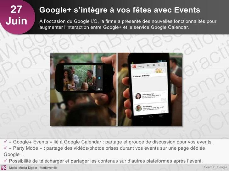 27                    Google+ s'intègre à vos fêtes avec EventsJuin                   À l'occasion du Google I/O, la firme...