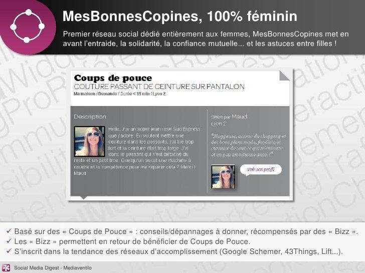 MesBonnesCopines, 100% féminin                       Premier réseau social dédié entièrement aux femmes, MesBonnesCopines ...