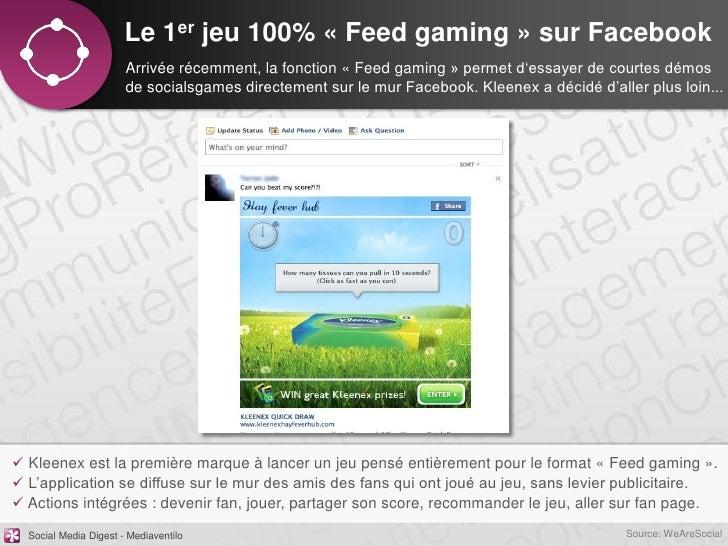 Le 1er jeu 100% « Feed gaming » sur Facebook                       Arrivée récemment, la fonction « Feed gaming » permet d...