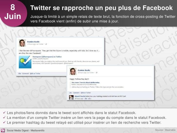8                     Twitter se rapproche un peu plus de FacebookJuin                   Jusque-là limité à un simple rela...