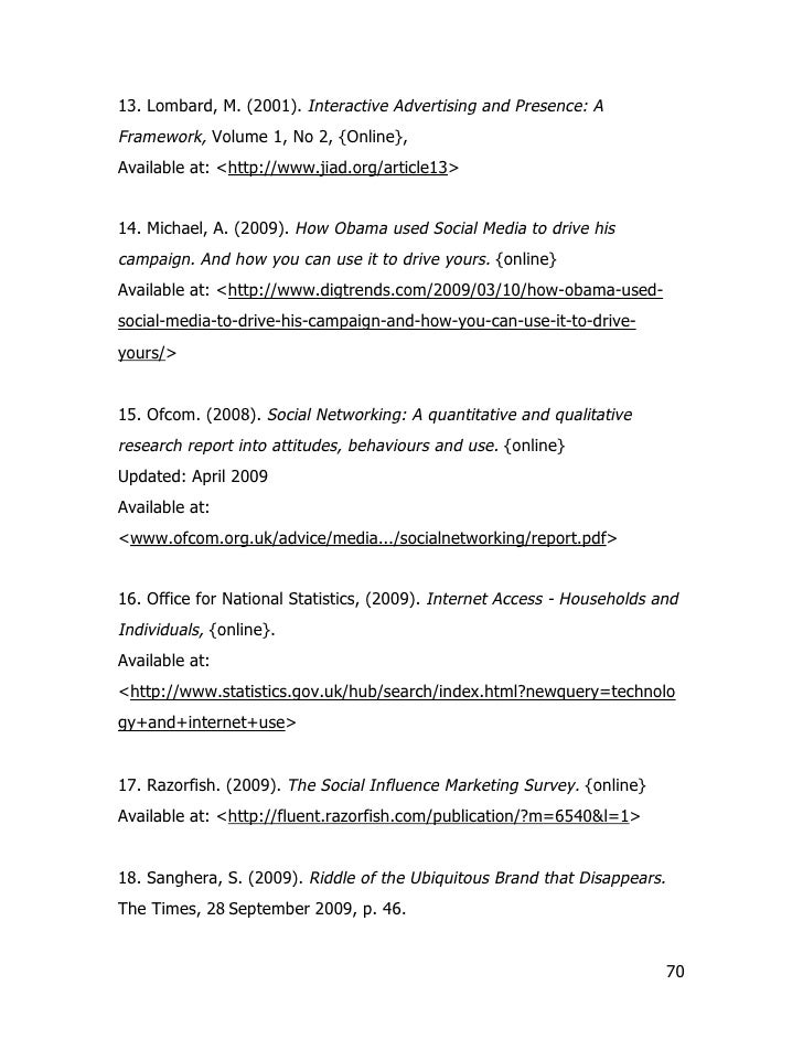 13. Lombard, M. (2001). Interactive Advertising and Presence: A Framework, Volume 1, No 2, {Online}, Available at: <http:/...