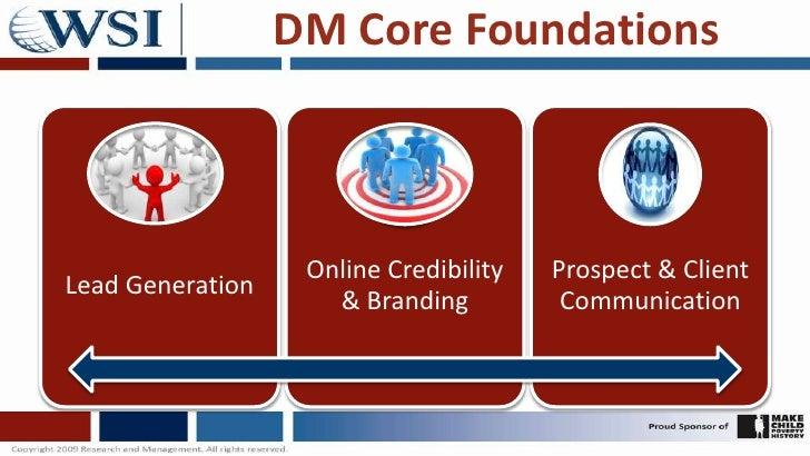 DM Core Foundations<br />