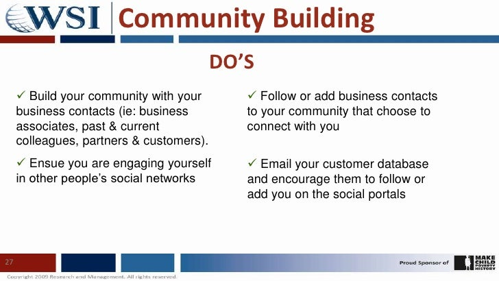 Social Media Do's and Don'ts<br />24<br />Profile Creation<br />Community Building<br />Video and Image Sharing<br />Statu...
