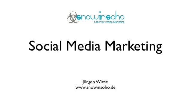 Social Media Marketing         Jürgen Wiese       www.snowinsoho.de