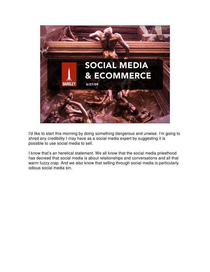 Social Media & Ecommerce