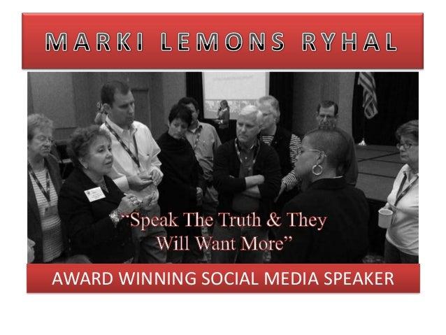 AWARD WINNING SOCIAL MEDIA SPEAKER