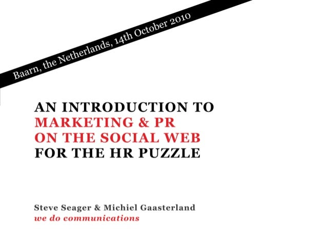 Social media | ehrm | the HR puzzle | Netherlands