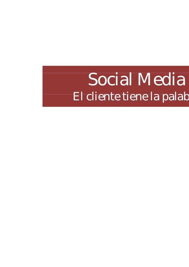 """Seminario: Social media """"El cliente tiene la palabra"""""""