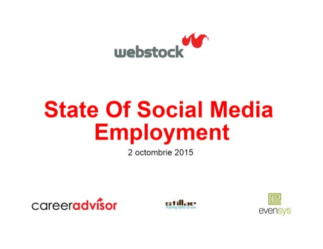 "'V-.   webstoc  State Of Social Media Employment  2 octombrie 2015  E  "" £53' % "".2112- coreeradvnsor  evensys"