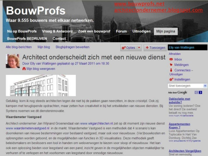 www.bouwprofs.net<br />architectondernemer.blogspot.com<br />