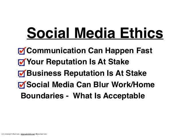 ethics communication social media Whether they are using electronic communication or social media, expressing political views or engaging in charitable endeavors, physicians must uphold professional standards of behavior to sustain the trust that is the foundation of the patient-physician relationship.