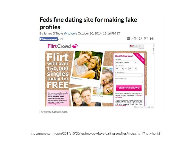 Feds Fine Dating Site For Making Fake Profiles