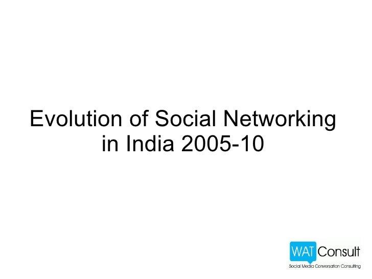 Social Media Evolution in India 2005 - 2010 Slide 2