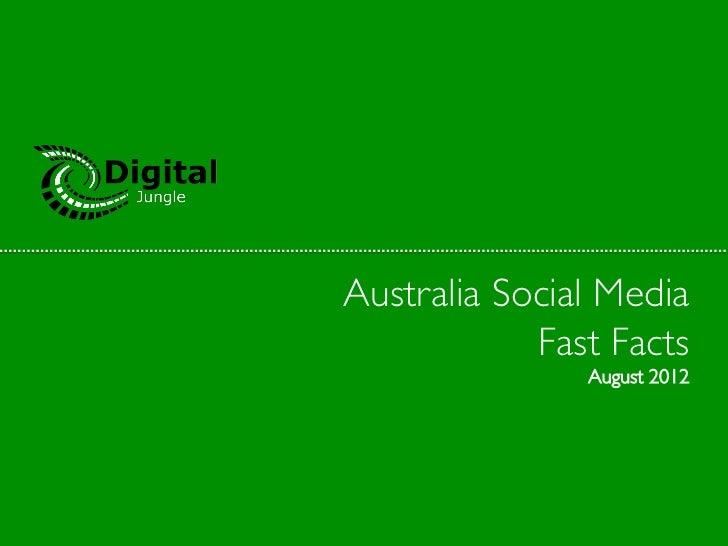 Australia Social Media            Fast Facts                 August 2012