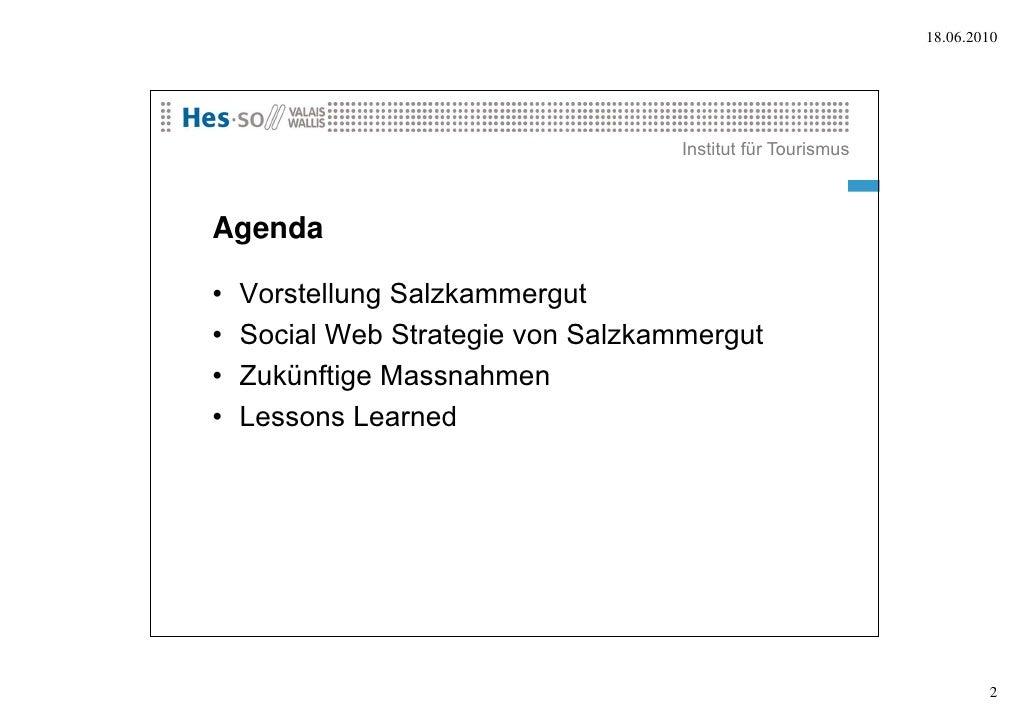 Social Media Fallstudie Salzkammergut (Österreich) Slide 2