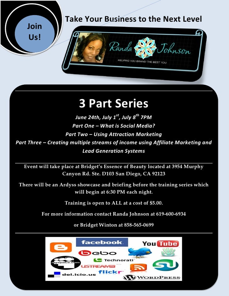 Take Your Business to the Next Level     Join     Us!                               3 Part Series                         ...