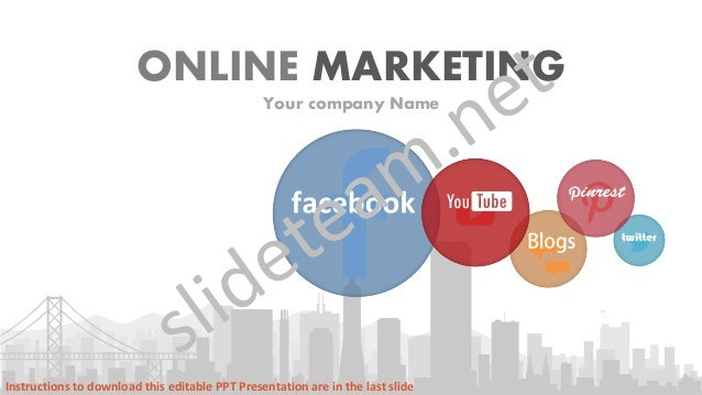 social media focused online marketing powerpoint presentation
