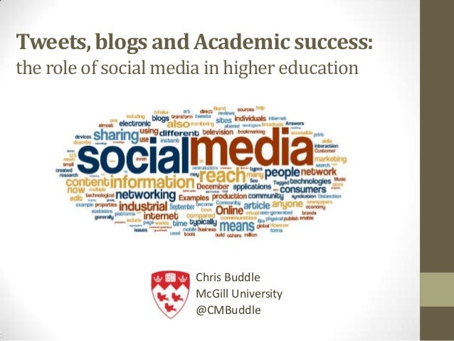 Tweets, blogs and Academic success:the role of socialmediain higher educationChris BuddleMcGill University@CMBuddle