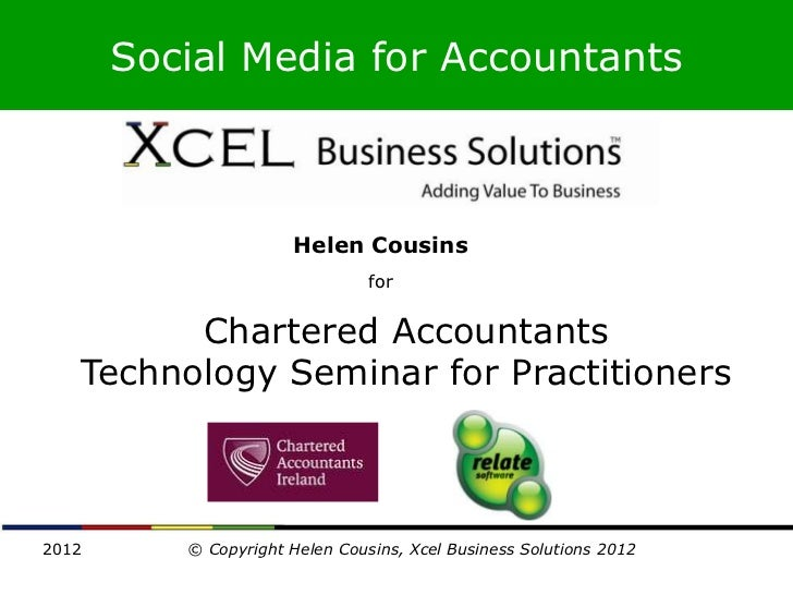 Social Media for Accountants                      Helen Cousins                                for         Chartered Accou...