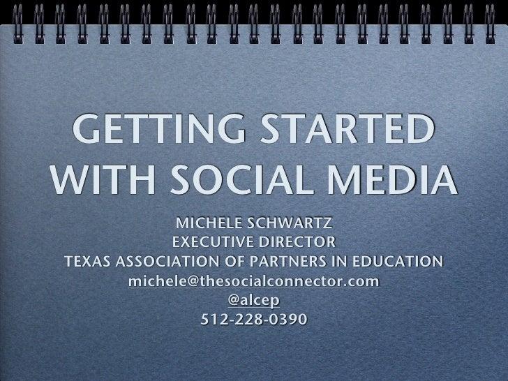 UTILIZING SOCIAL MEDIA TO PROMOTE YOUR ORGANIZATION AND MISSION <ul><li>MICHELE SCHWARTZ </li></ul><ul><li>EXECUTIVE DIREC...
