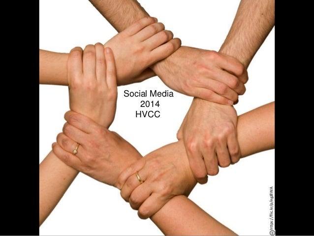 Social Media for Beginners HVCC 2014 Social Media 2014 HVCC https://flic.kr/p/egJ8WA