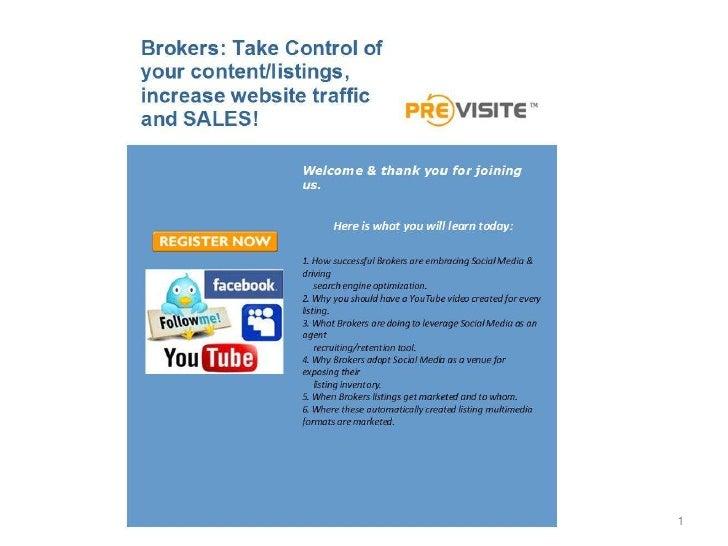 Social Media For Brokers Jl 2012 Slide 1