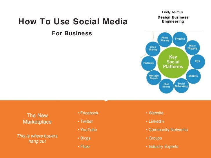 For Business How To Use Social Media Company Name Here Lindy Asimus  Design Business Engineering Place Photo Here, Otherwi...