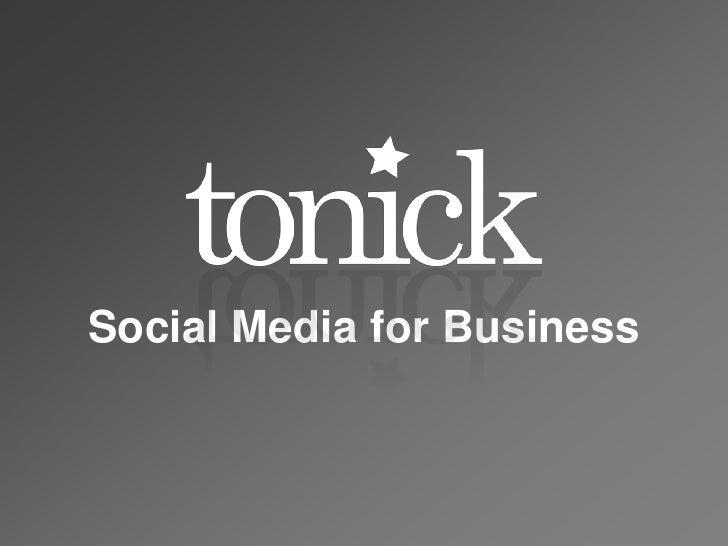 Social Media for Business<br />