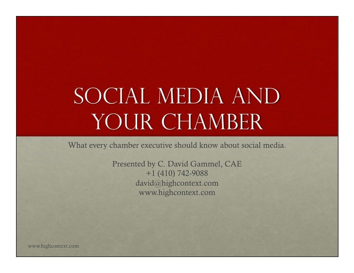 Social Media and Your Chamber