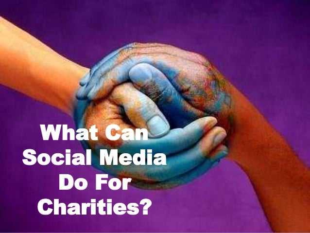 What Can Social Media Do For Charities?