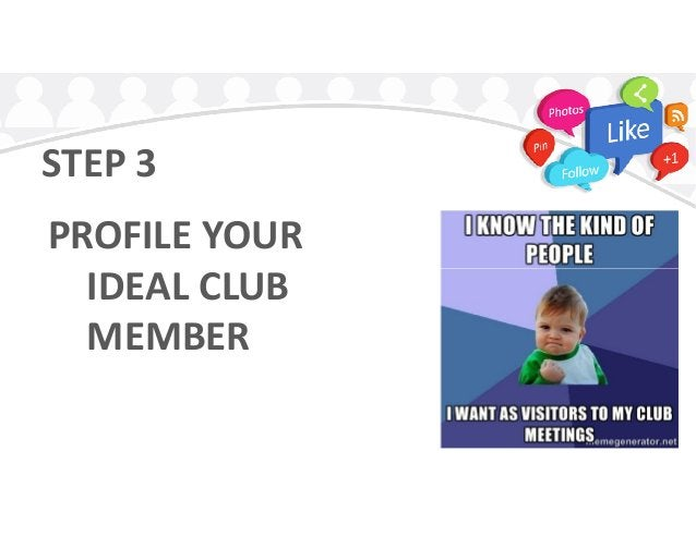 STEP 3 PROFILE YOUR IDEAL CLUBIDEAL CLUB MEMBER