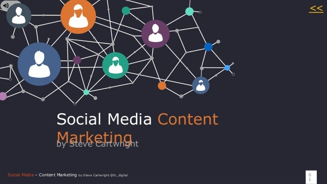 Social Media – Content Marketing by Steve Cartwright @fx_digital Social Media Content Marketingby Steve Cartwright 0 1 <<