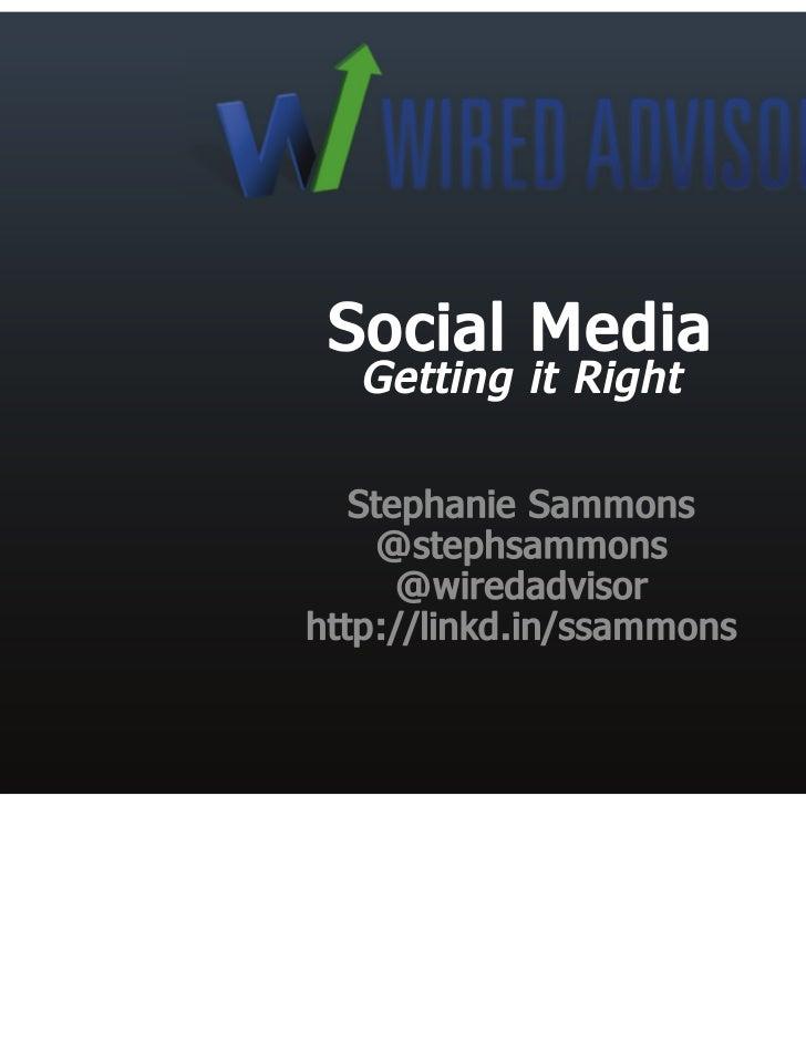 Social media for financial advisors; Getting it Right