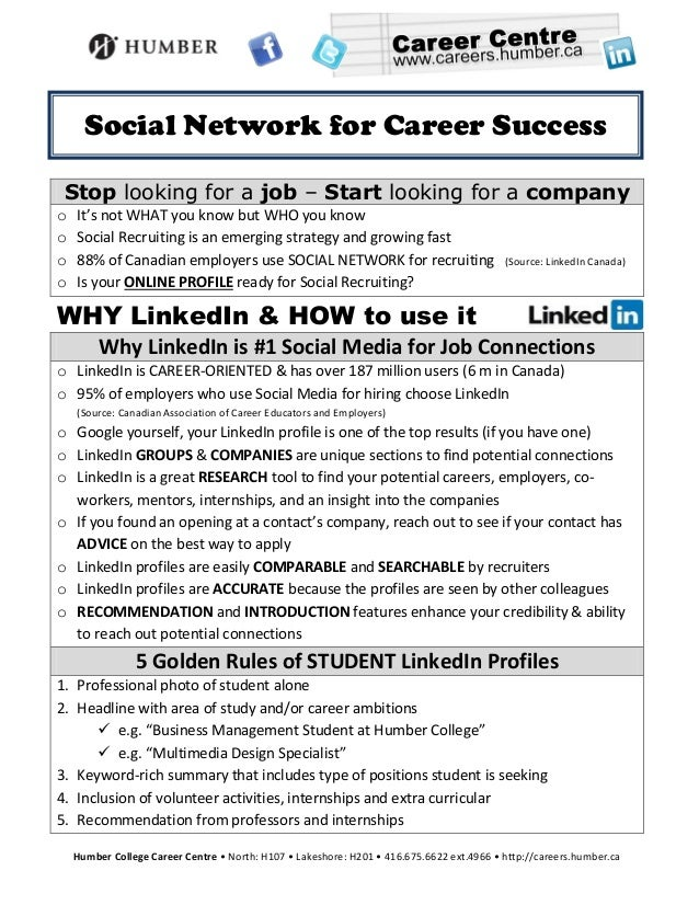 Social Network for Career Success Stop looking for a job – Start looking for a companyo   It's not WHAT you know but WHO y...