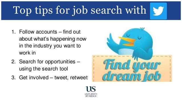 Tips For Job Search With; 14. Twitter; 15.